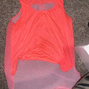 No sleeves pink tee dimmer time size L rue21